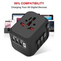 Hot Sale Universal Travel Adapter All-in-one International Power Adapter with 5A type-c 4USB univers