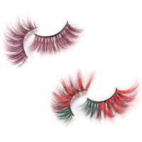 Halloween 3D Mink Color Lashes, 100% Siberian Mink Dramatic False Eyelashes thumbnail image