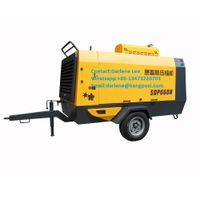 Hot Sell Diesel Engine Portable Screw Air Compressor