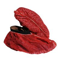 Plastic custom printed shoe cover dustproof rainproof red shoe cover thumbnail image