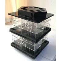 Rotating lipstick organizer acrylic tabletop display stand