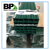 powder coated green square post