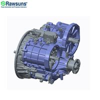1200Nm planetary gearbox ev transmission reduction gear for truck bus 25ton below hybrid vehicle
