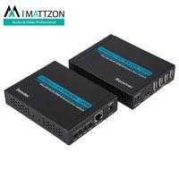 Mattzon 100m HDBaseT hdmi extender, 4k@60hz, RS-232 and IR control,12V POC, thumbnail image