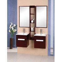 oak wood bathroom cabinet