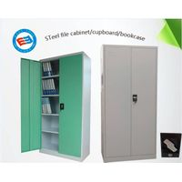 Steel knock down swing door filing cabinet office furniture bookcase garage cabinet