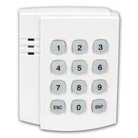 Tamperproof wireless keypad for burglar alarm system