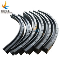 UHMWPE chain guide, UHMWPE profiles, plastic guide rail, UHMWPE machined parts thumbnail image