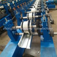 Notch Punching Steel Door Frame Roll Forming Machine With 45 Degree Cut
