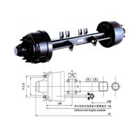 American style axle 16 ton heavy duty trailer axles