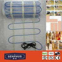 CE UL electric underfloor heating cable mat