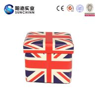 Classic England Flag PU Leather Folding Storage Stool Box