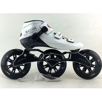 Rasha Inline Speed Skates Withe Color Inline Speed Skating Shoes Professional Carbon Skates 3 Wheels thumbnail image