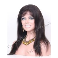 Silky Straight Indian Remy Hair Glueless Full Lace Wigs SGLW1407