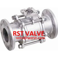3PC TYPE FLANGED BALL VALVE, CF8/CF8M,1000WOG