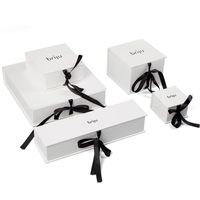 Paper Package Jewelry Gift Box With Ribbon