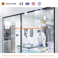 5mm TCK Double Glass Cleanroom Window For Pharmaceutical Clean Room With ISO9001