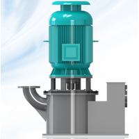 Vertical self priming pump