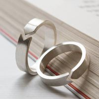 Handmade 925 Sterling Silver Love Ring Set Jewelry