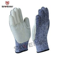 SeeWay B513 Cut resistant work gloves with leather palm coated thumbnail image