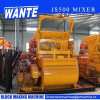 JS500 double shaft concrete mixer