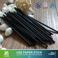Black cotton swabs paper stick