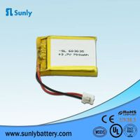 Model 603035 rechargeable 3.7V 700mAh lithium polymer battery for Speaker