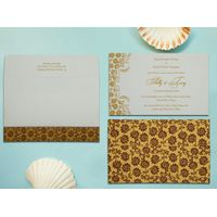 Attractive floral themed wedding invitation cards