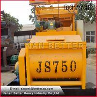 Great conditions JS750 lift hopper twin-shaft concrete mixer thumbnail image