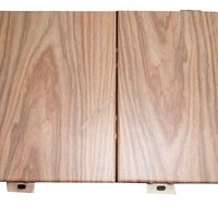 wooden pattern aluminum curtain wall paneling design with light color thumbnail image