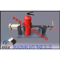 Vise to fasten fire extinguishers Pneumatic operation