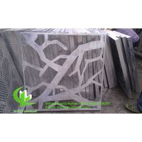 aluminum decorative screen with tree pattern
