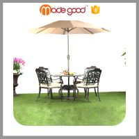 Zhejiang Madegood China top ten sale patio furniture outdoor round aluminum party tables and chairs