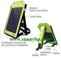 Portable solar backpack power for mobile phone thumbnail image
