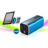 High capacity 10400mah  portable metal power bank with dual usb 2.1A charging