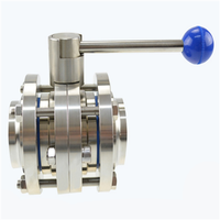 Stainless Steel Sanitary 3 pieces Butterfly Valve thumbnail image