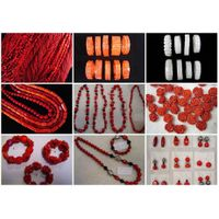 Coral Jewelry,Beads,Flower,Necklace,Bracelet,Earring thumbnail image