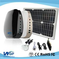 portable solar power generator system with 20w solar panel