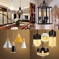 Retro art droplight America style small pendant unique metal chandelier for home and busines