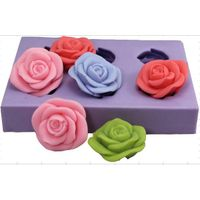 R0932 rose flower  silicone soap mold/ DIY soap moulds