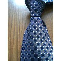 Blue Polyester Woven Necktie