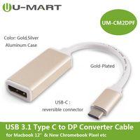 USB 3.1 Type C (USB-C) M to DP F Converter Cable--Aluminum Case thumbnail image