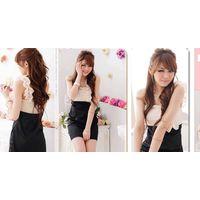 JJ fashion Single shoulder flower chest splicing dress    Products ID: 029B-81123