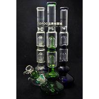 Bong 44CM Height Two Layer Filter Glass Pipe Smoking Pipes For Hookah&Shisha Smoking Shop thumbnail image