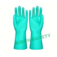household latex nitrile glove flocklined