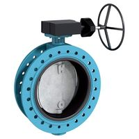 Manual Operation Wafer Ductile Iron Rubber Lined Butterfly Valve Bronze Disc
