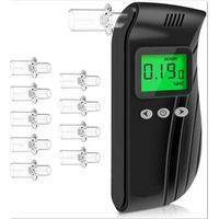 Digital Alcohol Tester Easy to Use with a Retractable Mouthpiece for Personal Alcohol Breath Testing thumbnail image
