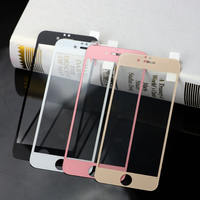 For iPhone 8 Plus / 7 Plus Printing full-screen Tempered Glass film Screen Protector (White) thumbnail image