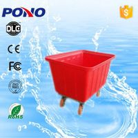 Pono-9003 CE ISO plastic laundry trolley,mobile cloth transport cart ,widely applied in hotel&hospit