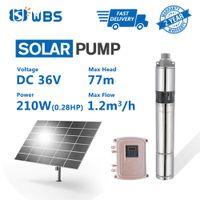 "3"" DC Screw Solar Bore Pump Submersible Hole Deep Well 36V 210W MPPT Controller"